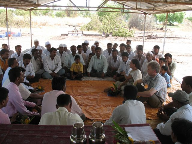 Ramkund - Village meeting with farmers